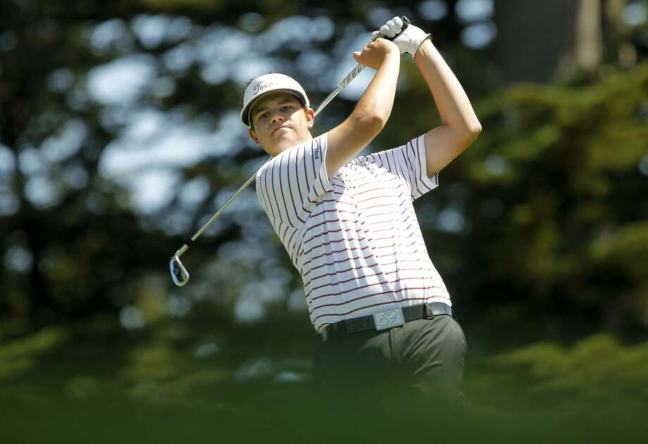 Beau Hossler, then 17, led the U.S. Open in 2012 at Olympic Club, and was in the top 10 at the start of the final round. Photo: Michael Macor, The Chronicle