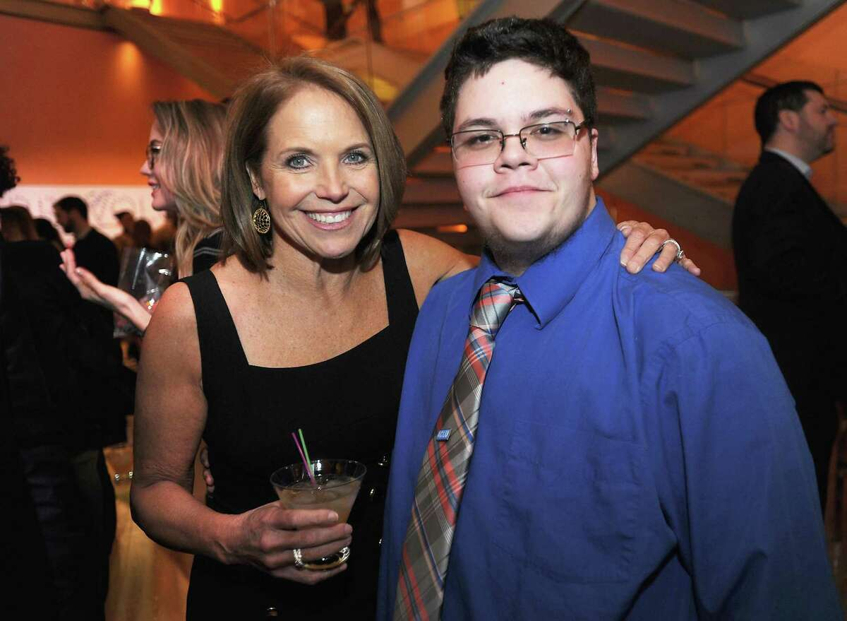 Katie Couric and Gavin Grimm attend the world premiere screening of
