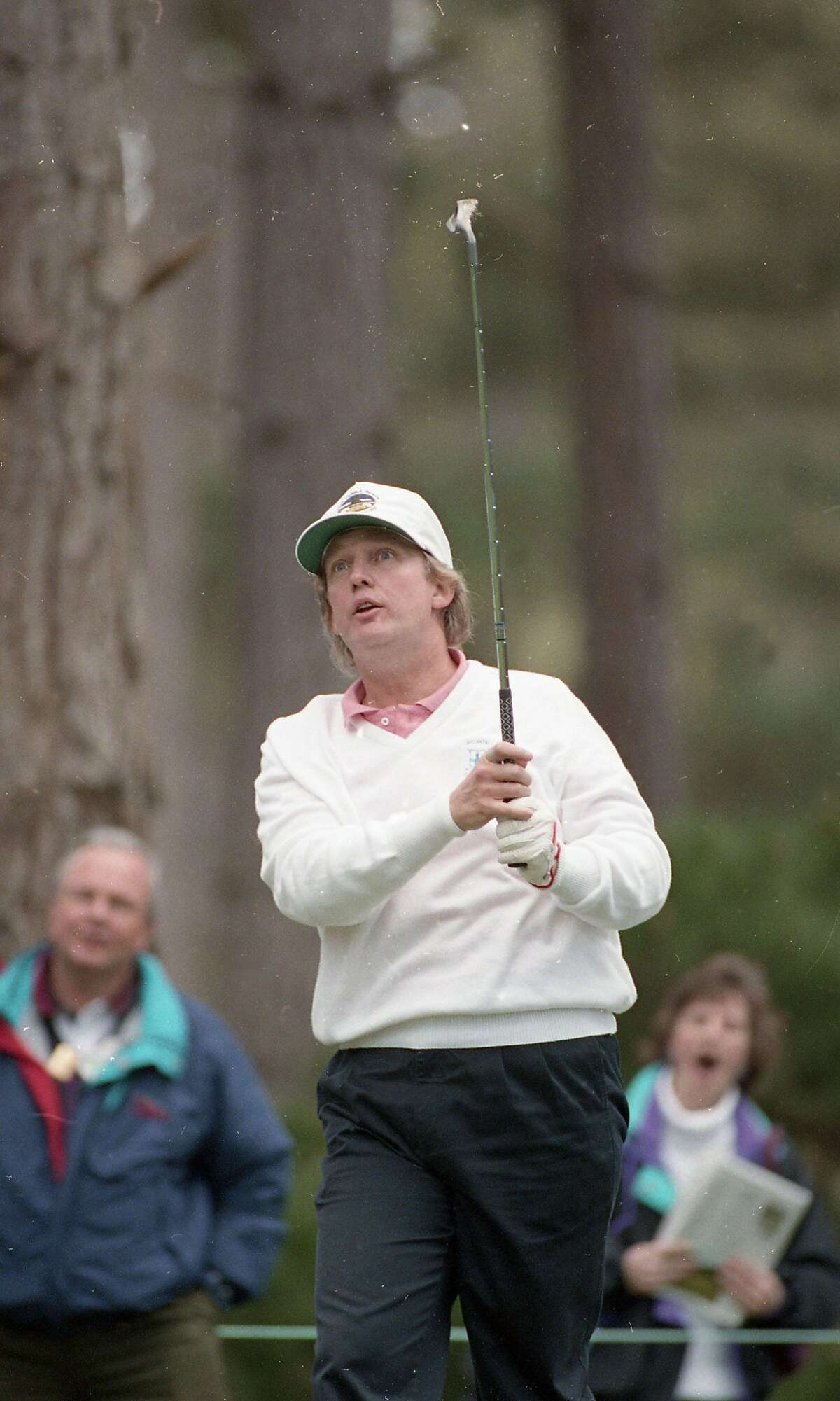 Feb. 5, 1993: Donald Trump plays at the Spyglass course in the AT&T Pebble Beach Pro-Am in 1993. He hit a hole-in-one on the 12th hole.