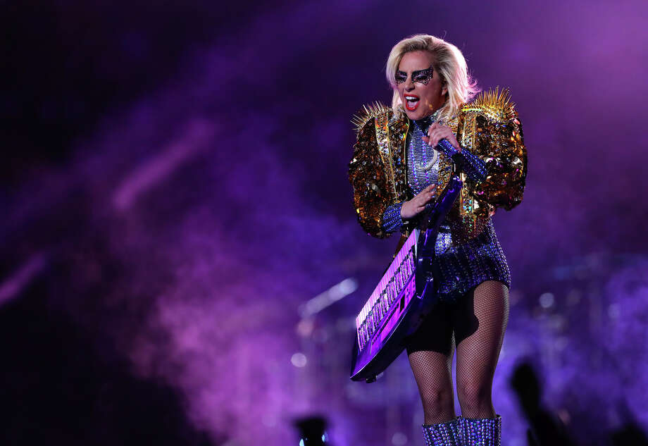 Lady Gaga performs during halftime of Super Bowl LI at NRG Stadium on Sunday, Feb. 5, 2017, in Houston. YouTube user Arkadiusz Tuszek isolated her vocals from the performance and posted the audio online.Click through the slideshow to see more photos from Gaga's Super Bowl performance.  Photo: Brett Coomer/Houston Chronicle