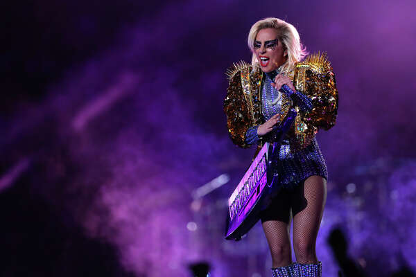 Lady Gaga performs during halftime of Super Bowl LI at NRG Stadium on Sunday, Feb. 5, 2017, in Houston. ( Brett Coomer / Houston Chronicle )