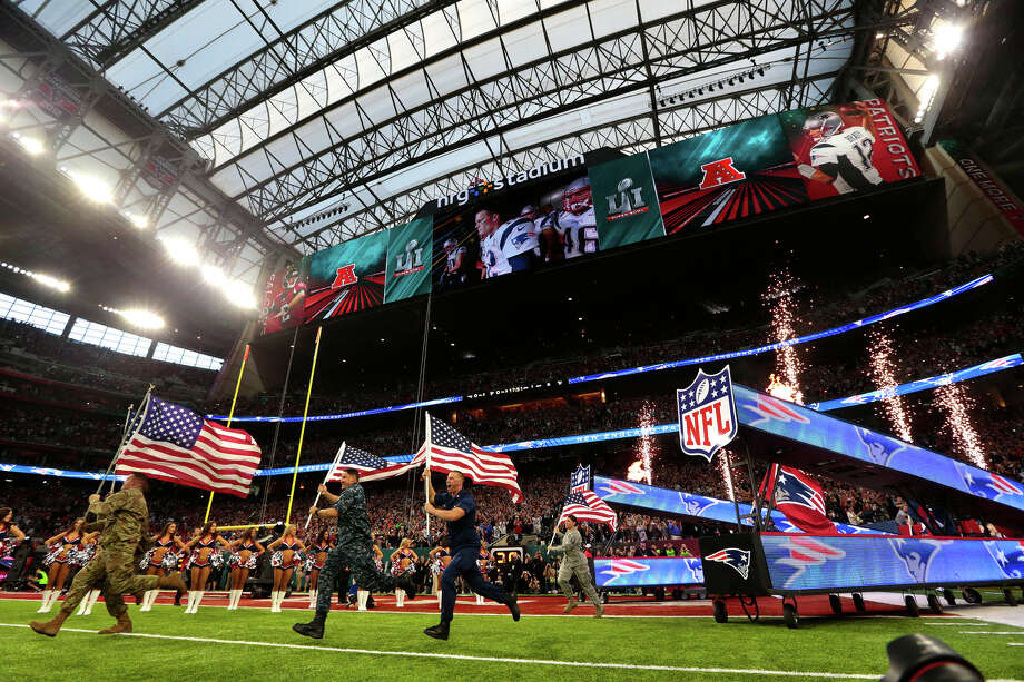 Pregame ceremonies for Super Bowl LI at NRG Stadium on Sunday, Feb. 5, 2017, in Houston. ( Brett Coomer / Houston Chronicle ) Photo: Brett Coomer/Houston Chronicle