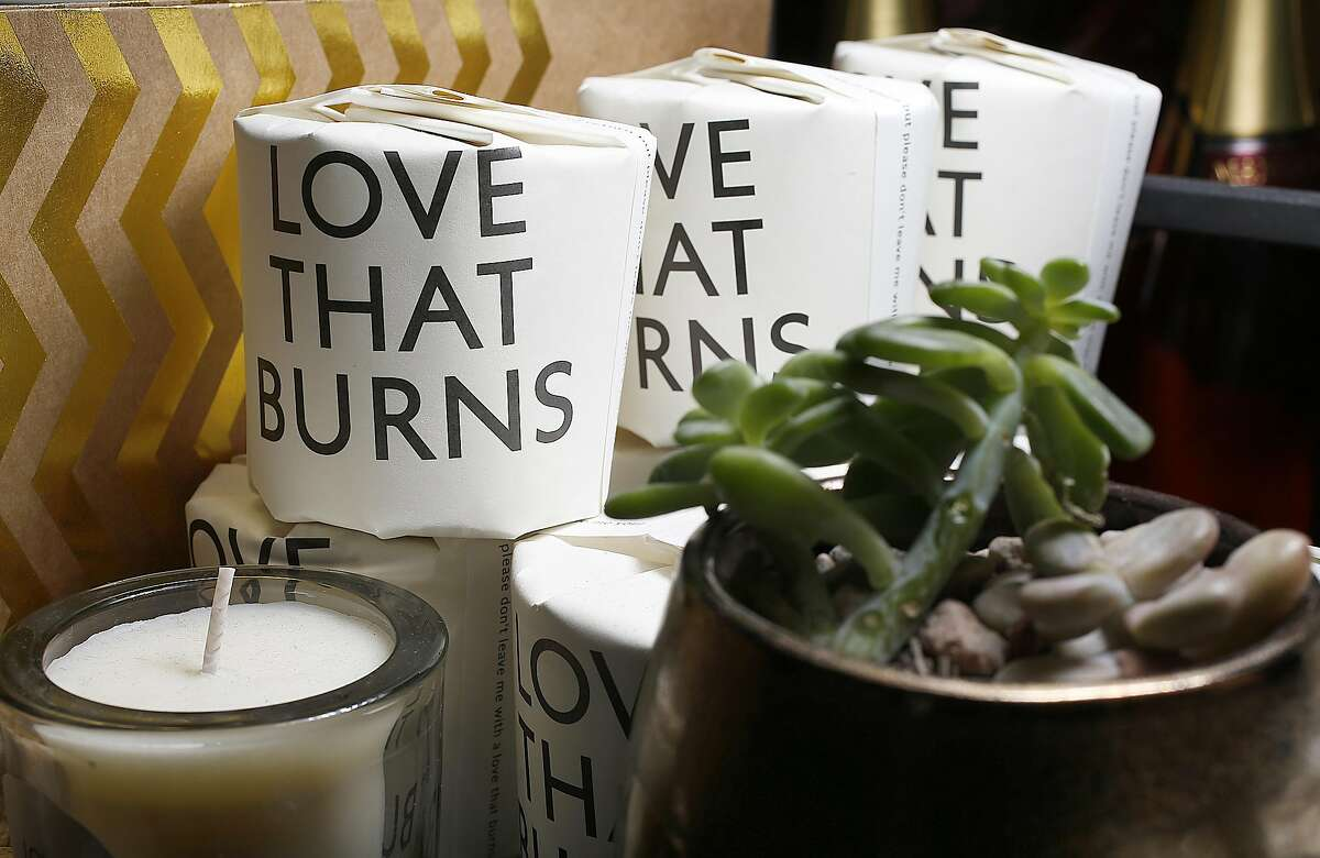 The Market, a combo grocery story and food store, has a great Valentine's Day selection including Tatine candles on Monday, February 6, 2017, in San Francisco, Calif.