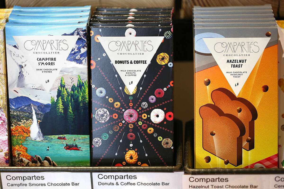 The Market, a combo grocery story and food store, has a great Valentine's Day selection including Compartes chocolates on Monday, February 6, 2017, in San Francisco, Calif.