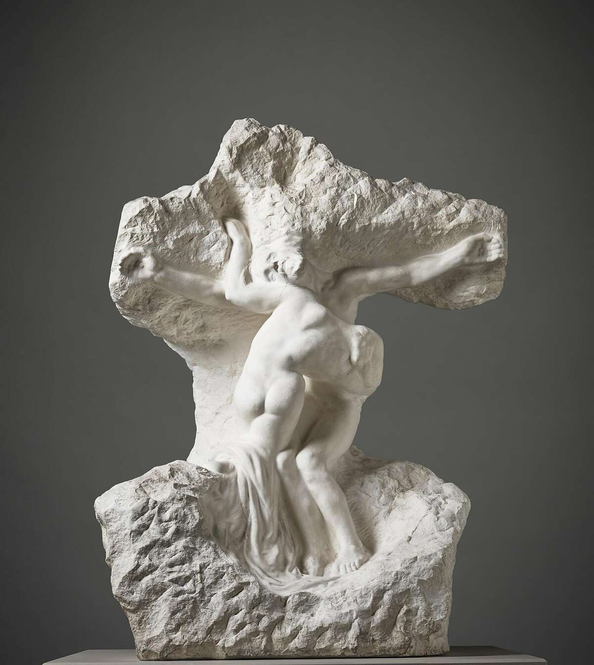 """Auguste Rodin, """"Christ and the Magdalene"""" (ca. 1894, cast ca. 1919), plaster"""