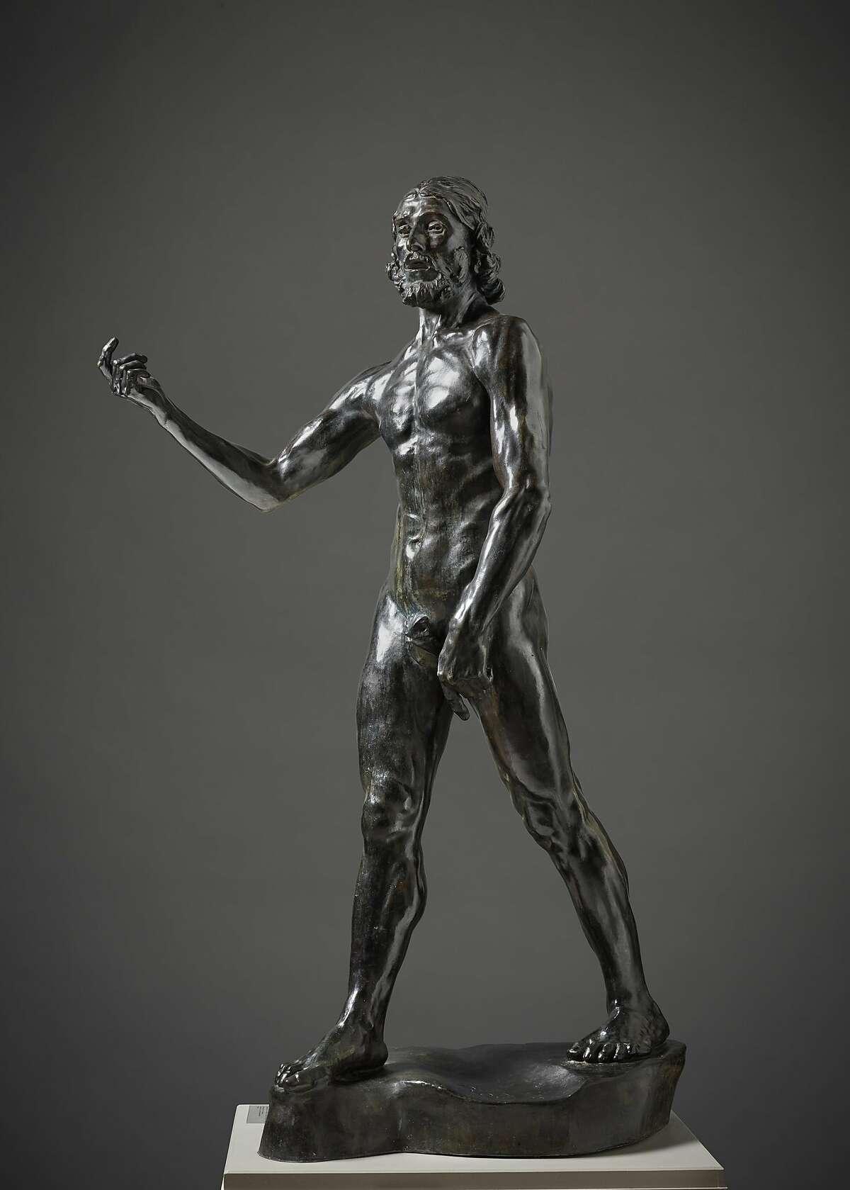 "Auguste Rodin, ""Saint John the Baptist Preaching"" (1880, cast ca. 1914), bronze"