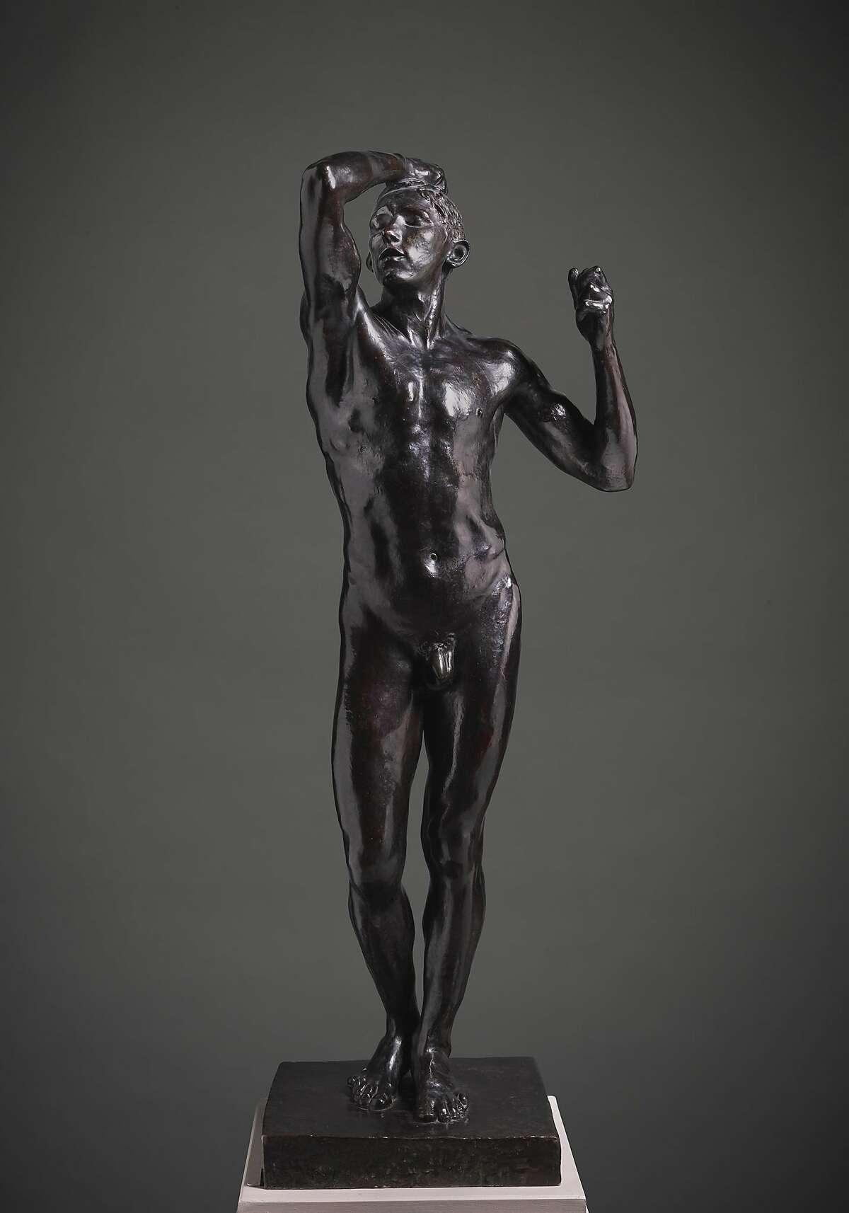 """Auguste Rodin, """"The Age of Bronze"""" (1877; cast ca. 1914), bronze"""
