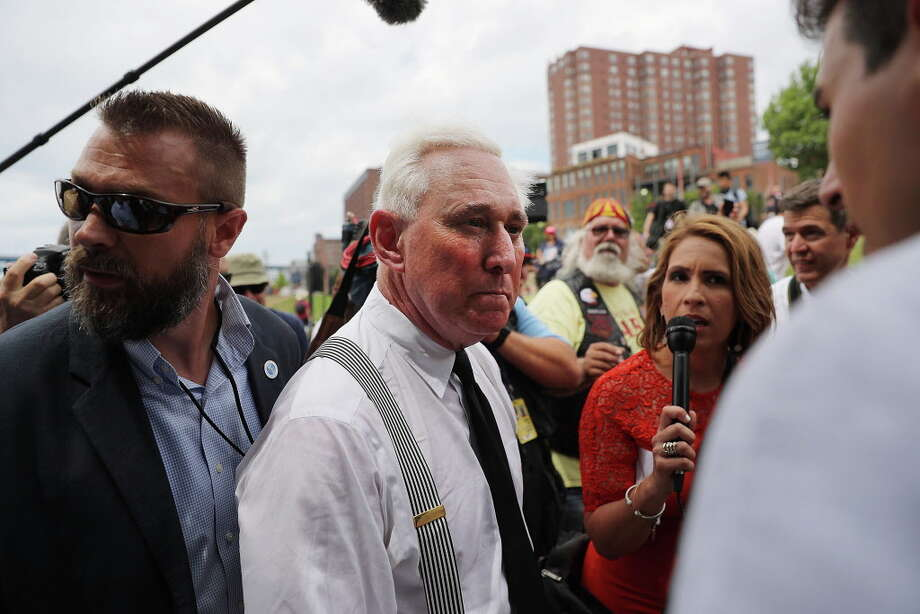 CLEVELAND, OH - JULY 18:  Political operative Roger Stone attends rally on the first day of the Republican National Convention (RNC) on July 18, 2016 in Cleveland, Ohio. An estimated 50,000 people are expected in downtown Cleveland, including hundreds of protesters and members of the media. The convention runs through July 21.  (Photo by Spencer Platt/Getty Images) ORG XMIT: 655469503 Photo: Spencer Platt / 2016 Getty Images