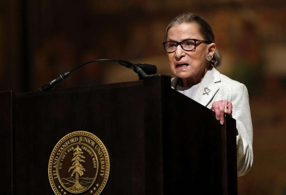 US Supreme Court Justice Ruth Bader Ginsburg speaks at Stanford Memorial Church in Stanford, Calif., on Monday, February 6, 2017. Photo: Scott Strazzante, The Chronicle