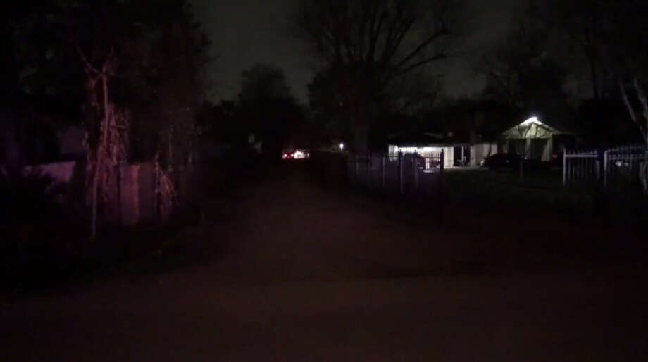 Harris County sheriff's deputies investigate after a deceased victim was found following a reported shooting north of Houston early Tuesday, Feb. 7, 2017. (Metro Video) Photo: Metro Video