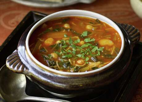 Dried beans form the base of some great dishes. This satisfying Tunisian vegetable bean soup is called Hlelem. Photo: Courtesy Culinary Institute Of America / ©2008 The Culinary Institute of America