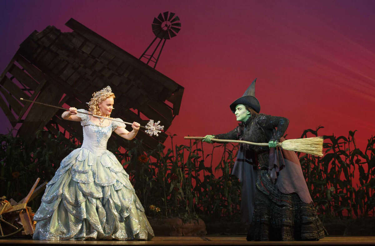 ?Wicked? will be on stage at the Toyota Oakdale Theatre in Wallingford, Wednesday, Nov. 30, through Sunday, Dec. 11. Seen here are Amanda Jane Cooper as Glinda and Jessica Vosk as Elphaba. ORG XMIT: MER2016111017365858