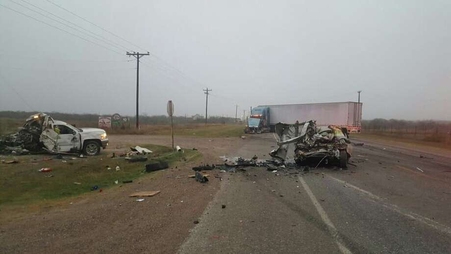 Four people died Tuesday, Feb. 7, 2017 in a three-vehicle collision on Texas 359, according to the Webb County Sheriff's Office. Photo: Courtesy