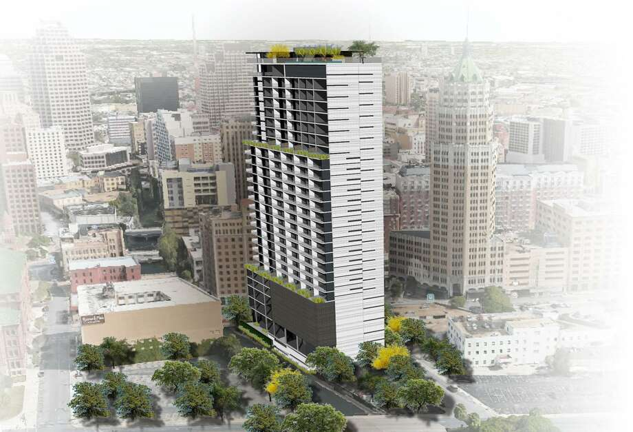 Dallas developer JMJ Development wants to build a 24-story residential and office tower at 112 Villita St. that would sit right on the San Antonio River but the project's future is in doubt. Photo: Richard Webner /Courtesy Of JMJ Development