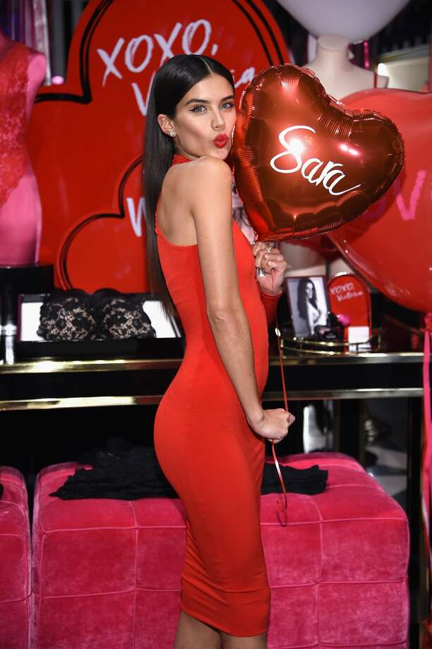 Model Sara Sampaio poses. Photo: Dimitrios Kambouris/Getty Images For Victoria's Secret