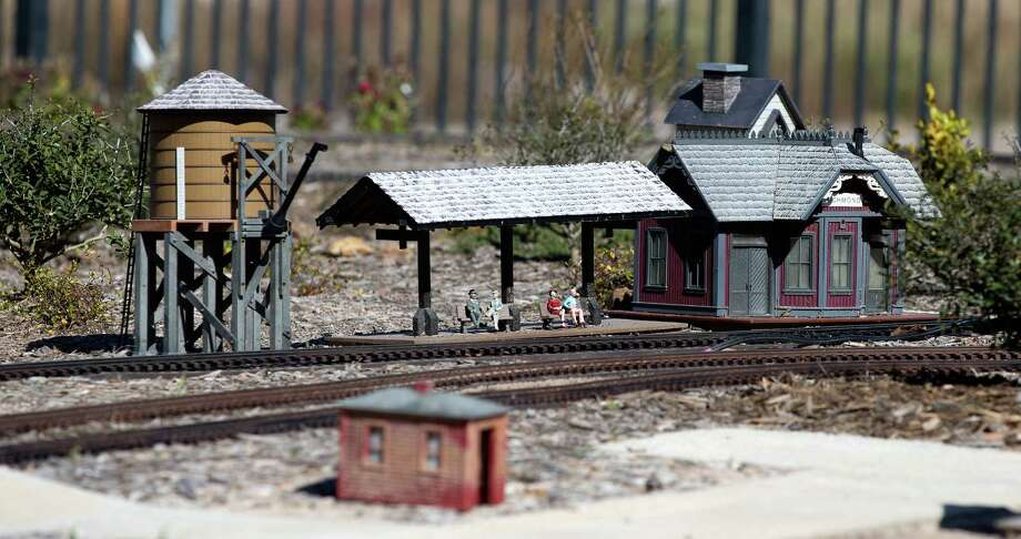 A view of a model railroad depicting points of interest along the railway between Rosenberg and Richmond on display at the Rosenberg Railroad Museum & Depot on Friday, Feb. 12, 2016. Photo: Bob Levey, Photographer / ©2016 Bob Levey