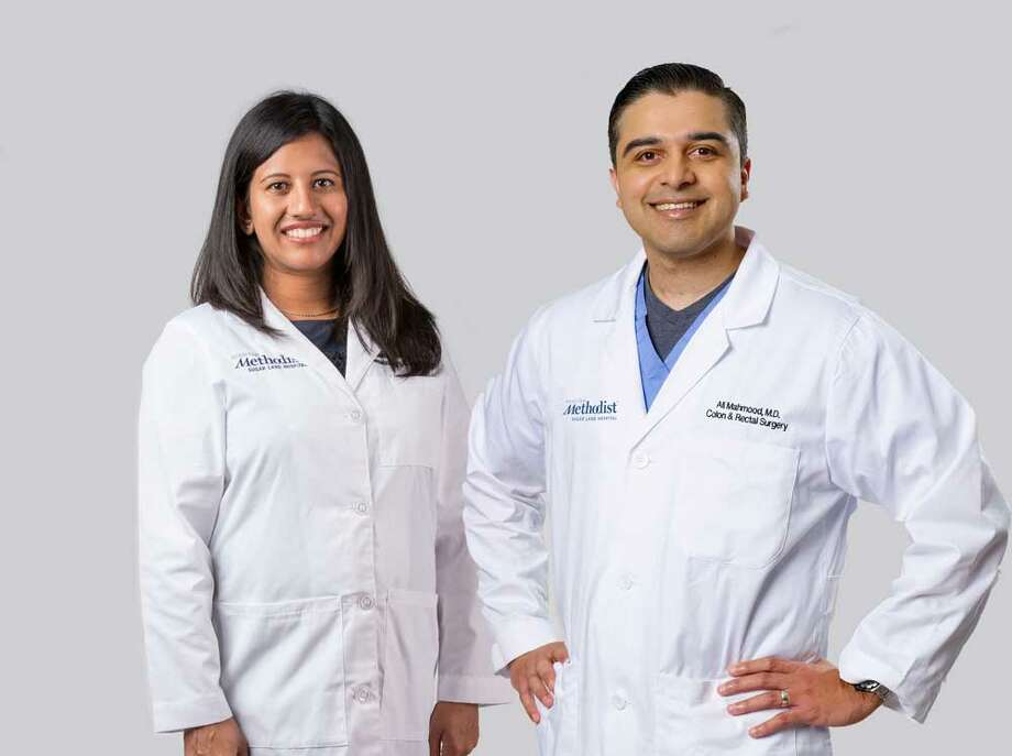 Dr. Sindhu Nair, hematologist oncologist and Dr. Ali Mahmood, colorectal surgeon Photo: Submitted