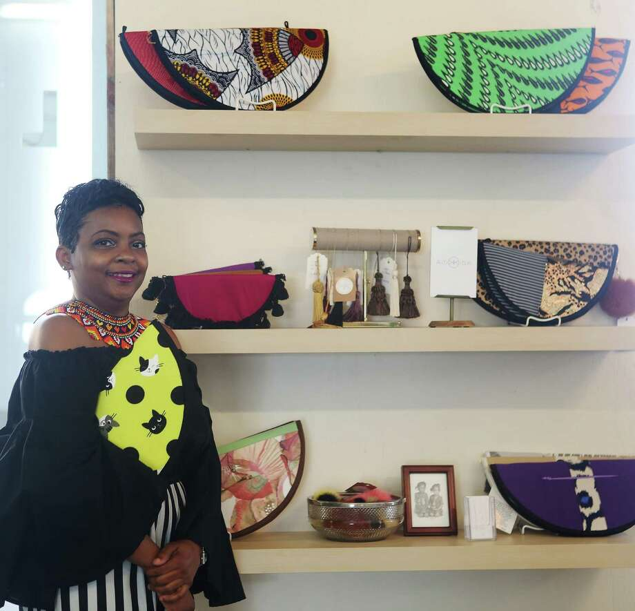 Kisa Williams' handbags are featured at the LAUNCH popup store featuring local designers in Partnership Tower across from the George R. Brown Convention Center, Wednesday, Jan. 25, 2017, in Houston. ( Mark Mulligan / Houston Chronicle ) Photo: Mark Mulligan, Staff / © 2017 Houston Chronicle