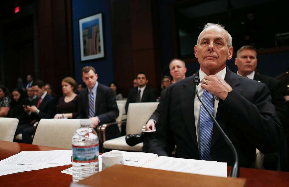 John Kelly's comment was the most direct acknowledgment by a high-level official that the travel order had been mishandled. Photo: Mario Tama, Getty Images