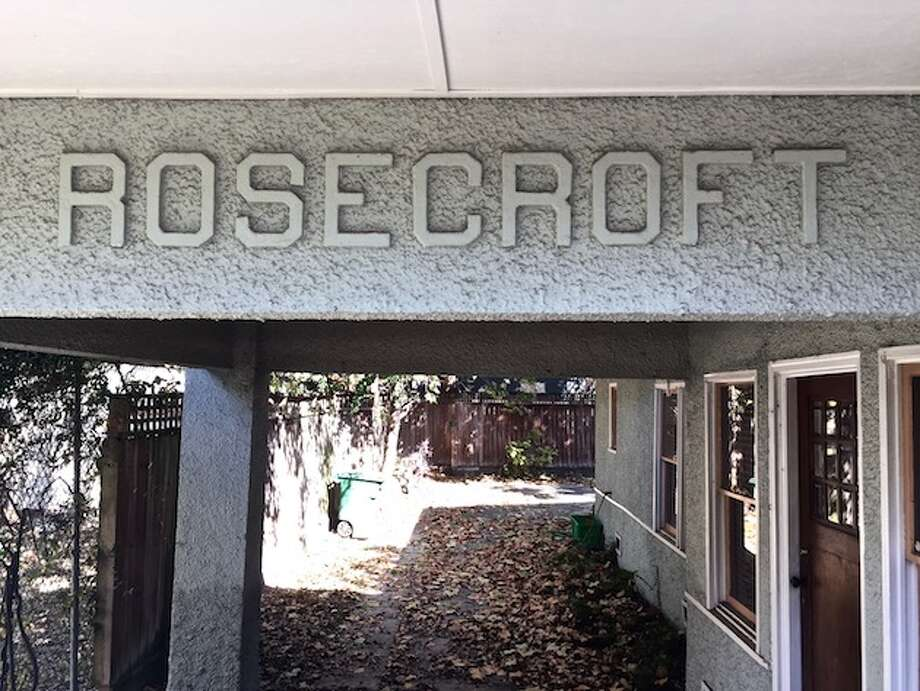 The name of the house is inscribed over the carport. Photo: Lucas Masllorens / Modest Digs