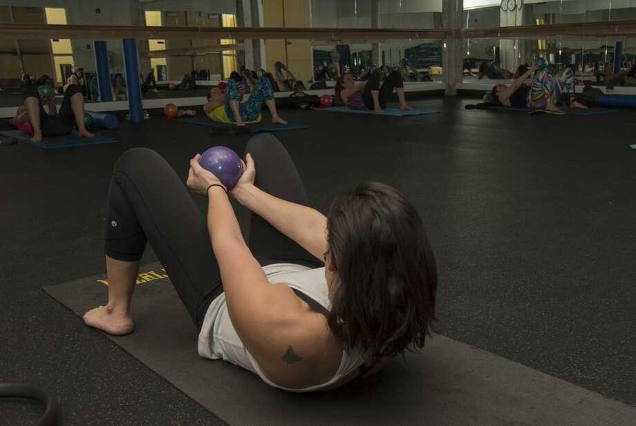 Pilates class at YMCA Tuesday 02-07-17. Tim Fischer/Reporter-Telegram Photo: Tim Fischer/Midland Reporter-Telegram