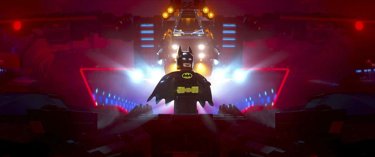This image released by Warner Bros. Pictures shows Batman, voiced by Will Arnett, in a scene from