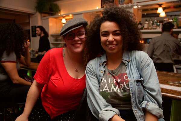 Sarah Maddux and Arielle Cottingham are at Jandro's Garden Patio.