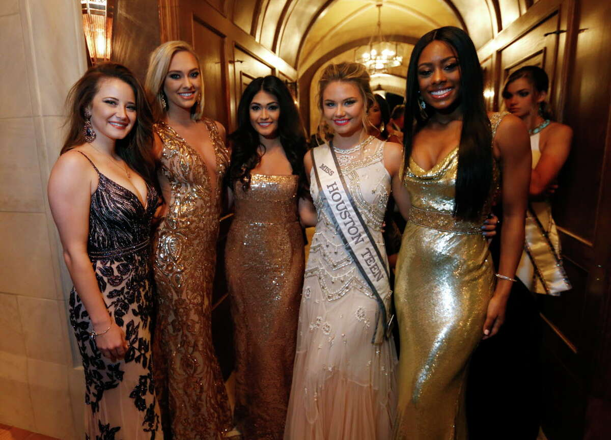Texas beauty pageant contestants during Joanne King Herring's Extravaganza of the Stars on Saturday, Feb. 4, 2017, at the Blackburn Estate in Houston. (Annie Mulligan / Freelance)