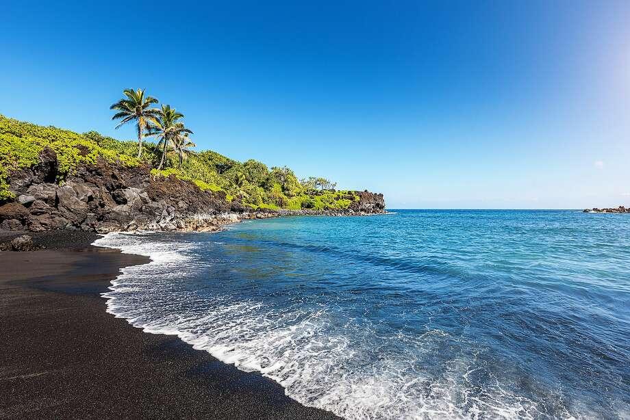 Lava Beach, Wai'anapanapa, Maui:A Novato man died Sunday while swimming in a sea cave at Wai'anapanapa State Park near Hana. Photo: Alexander Hafemann, Getty Images