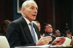 WASHINGTON, DC - FEBRUARY 07:  Homeland Security Secretary John Kelly testifies to the House Committee on Border Security on Capitol Hill on February 7, 2017 in Washington, D.C. Kelly spoke about border security and President Trump's recent refugee ban.  (Photo by Mario Tama/Getty Images)