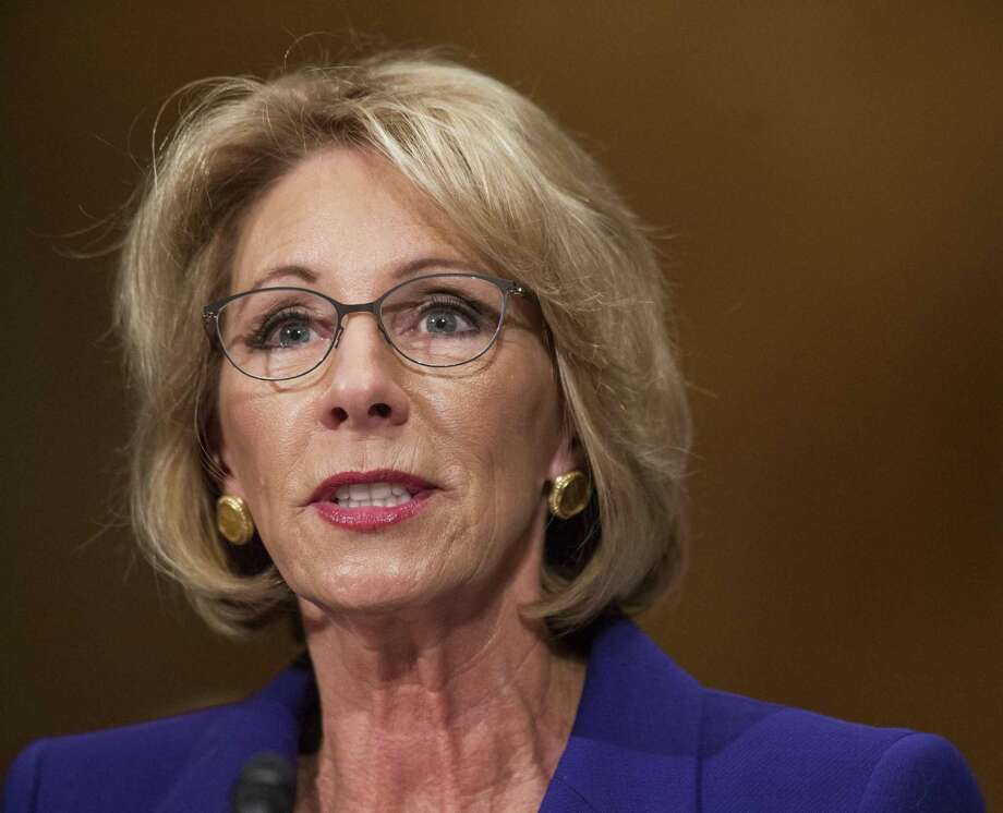The Senate voted to confirm Betsy DeVos as education secretary with a historic 51-50 vote decided by a tie-breaking vote from Vice President Mike Pence. Photo: Zach Gibson / Bloomberg / © 2017 Bloomberg Finance LP