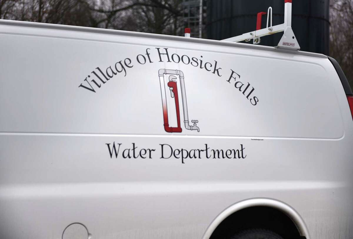 A Hoosick Falls water department truck is parked at the filtration plant on Wednesday, Jan. 4, 2017, in Hoosick Falls, N.Y. (Will Waldron/Times Union)