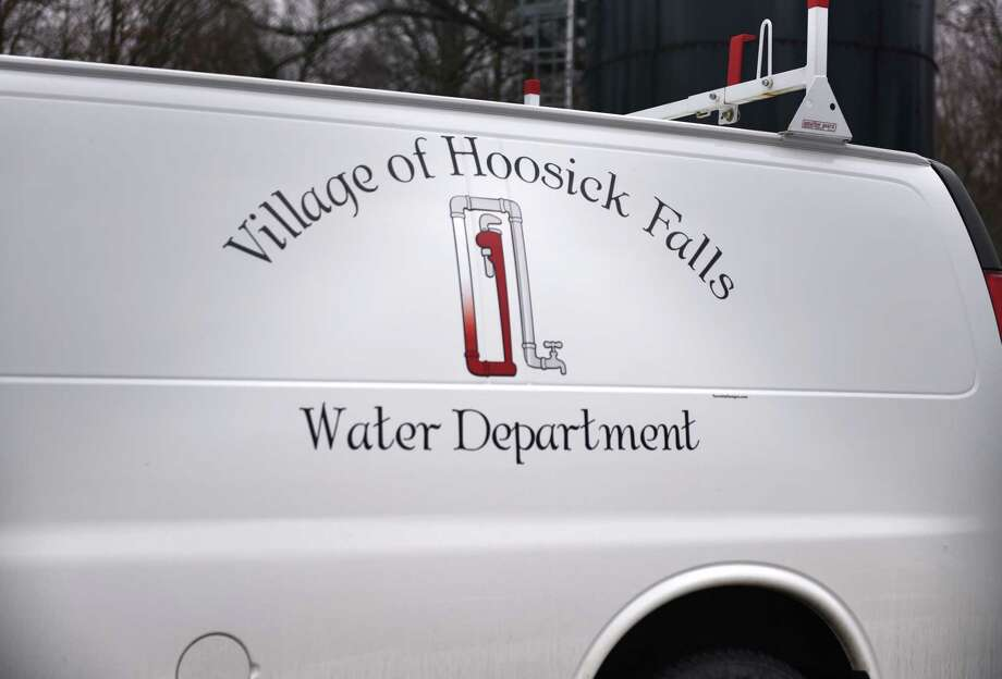 A Hoosick Falls water department truck is parked at the filtration plant on Wednesday, Jan. 4, 2017, in Hoosick Falls, N.Y. (Will Waldron/Times Union) Photo: Will Waldron