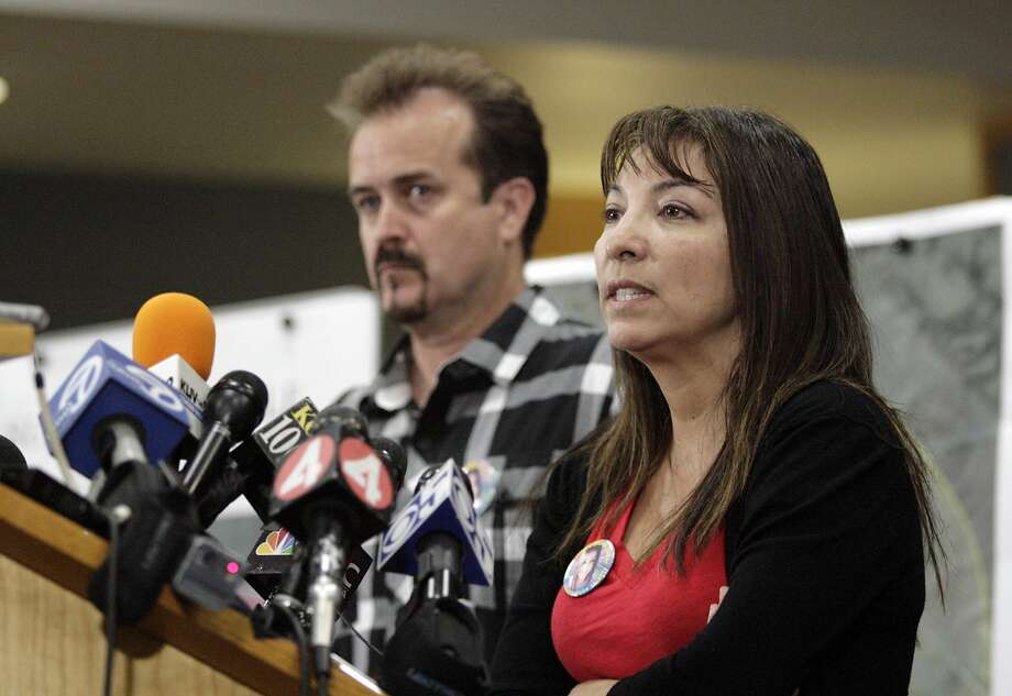 The parents of Sierra LaMar, mother Marlene LaMar and father, Steven LaMar during a press conference announcing the arrest of Antolin Garcia-Torres in connection with the disappearance of their 15-year-old daughter. Marlene LaMar testified in Garcia-Torres' trial on Tuesday, Feb. 7, 2017, recounting the day her daughter disappeared. Garcia-Torres is charged with Sierra's murder and kidnapping. (AP Photo/San Jose Mercury News, Gary Reyes) Photo: Gary Reyes, Associated Press