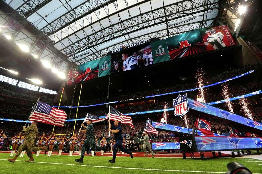 Pregame ceremonies for Super Bowl LI at NRG Stadium on Sunday, Feb. 5, 2017, in Houston. ( Brett Coomer / Houston Chronicle ) Photo: Brett Coomer, Staff / © 2017 Houston Chronicle