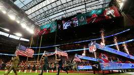 Pregame ceremonies for Super Bowl LI at NRG Stadium on Sunday, Feb. 5, 2017, in Houston. ( Brett Coomer / Houston Chronicle )