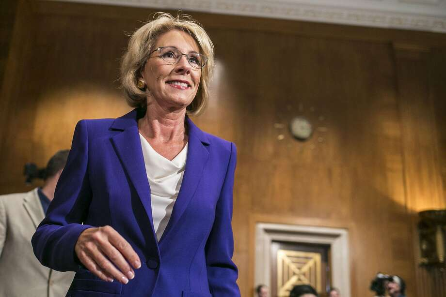 Opposed by half the Senate, Betsy DeVos faced criticism, and ridicule for lack of experience and confusion during her hearing. Photo: AL DRAGO, NYT