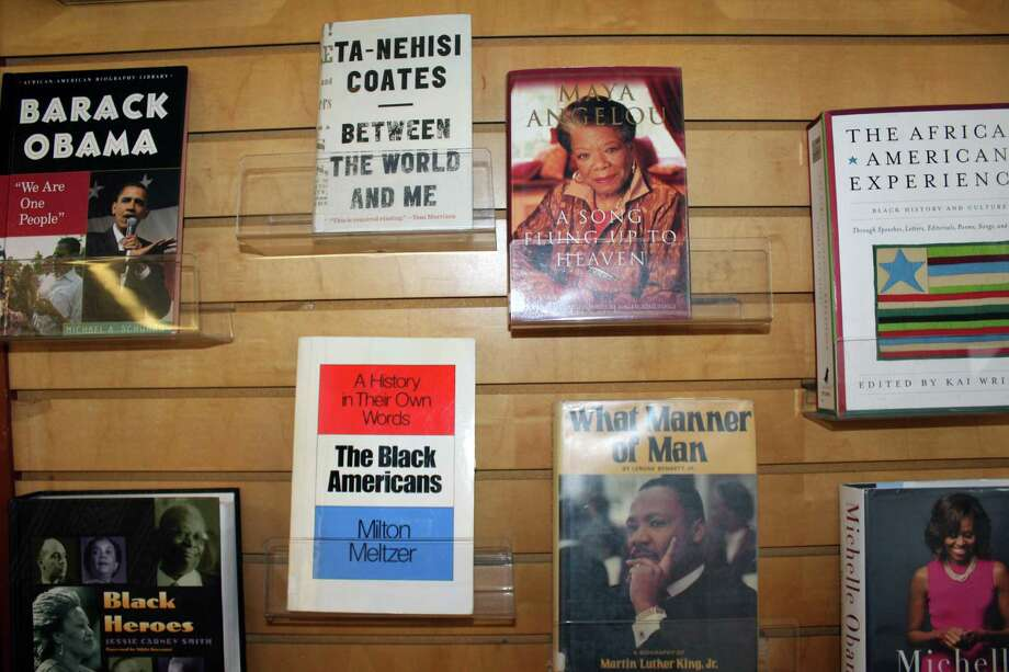 New Canaan Library's shelf of books celebrating Black History Month, which will be on display throughout February. Shot on Feb. 7, 2017 in New Canaan, Conn. Photo: Justin Papp / Hearst Connecticut Media / New Canaan News