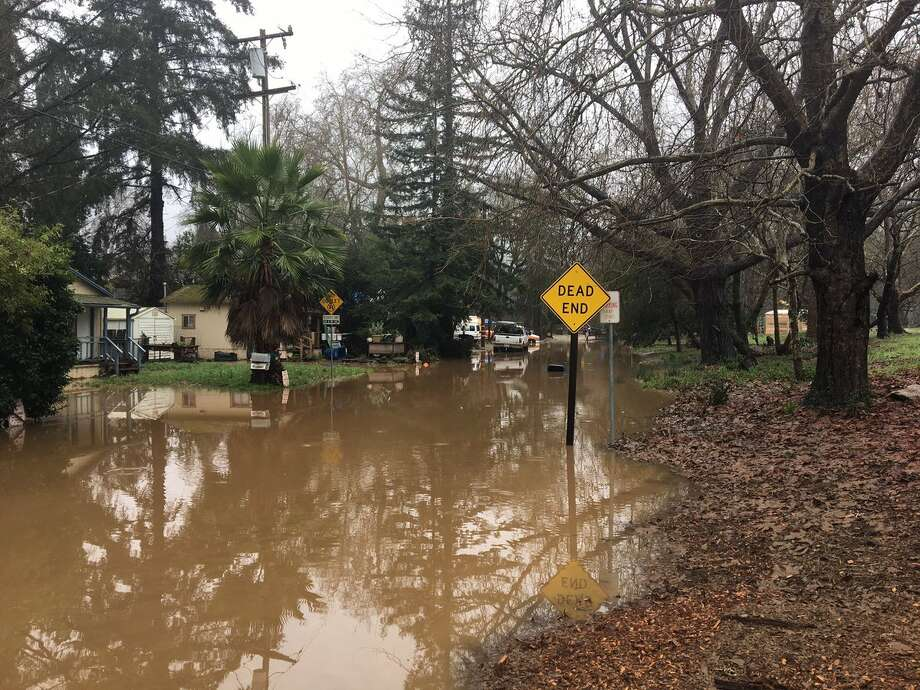 Homes in Felton near the San Lorenzo River are flooded after the area received heavy rain. Photo: Rob Malcolm/KTVU