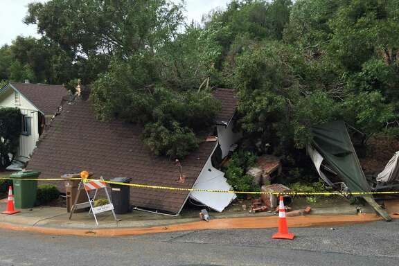 The house at 268 Mountain View Avenue in San Rafael was devastated by a mudslide Tuesday morning.