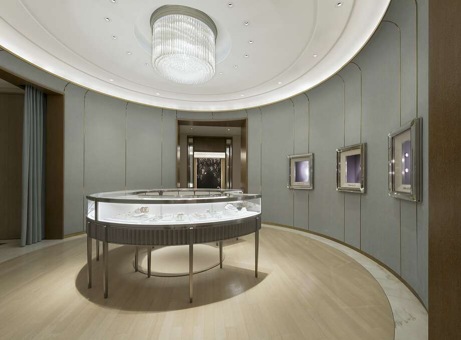 A high jewelry salon at the rear of the first floor at the newly remodeled Tiffany & Co. on Post Street replaces a bridal salon that once stood in its place. Photo: Rodolfo Martinez