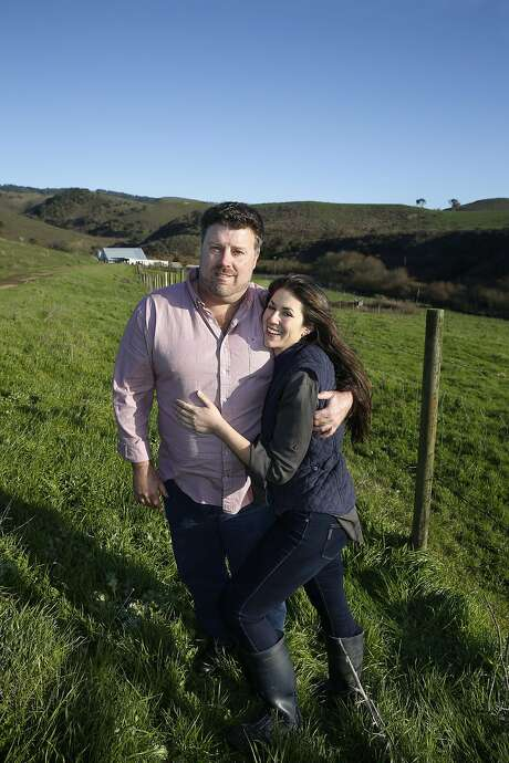 Point Reyes ranchers David Evans of Marin Sun Farms and Claire Herminjard of Mindful Meats wed in 2016. Their merger of pasture-raised (his) and organic (hers) lines has allowed them to reach more buyers who want local meat. Photo: Liz Hafalia, The Chronicle
