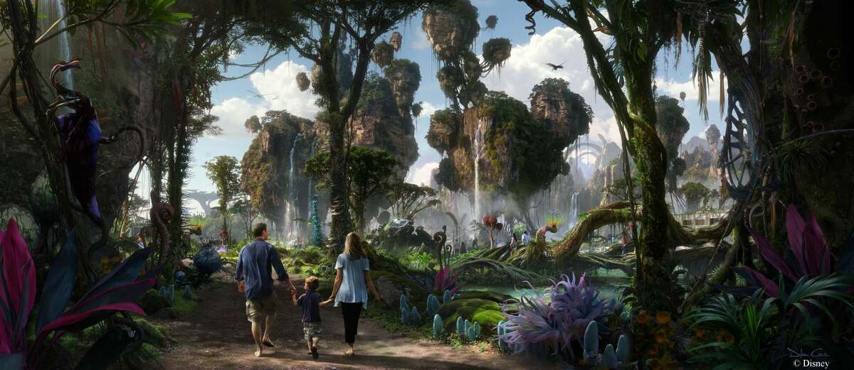 Walt Disney Imagineering in collaboration with filmmaker James Cameron and Lightstorm Entertainment is bringing to life the mythical world of Pandora, inspired by Avatar, at Disney's Animal Kingdom theme park.
