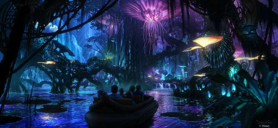 Walt Disney Imagineering in collaboration with filmmaker James Cameron and Lightstorm Entertainment is bringing to life the mythical world of Pandora, inspired by Avatar, at Disney's Animal Kingdom theme park. Photo: Concept Art, Walt Disney Imagineering