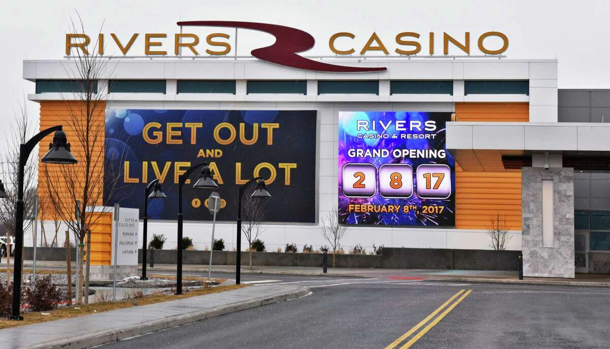 Sign at the entrance to Rivers Casino announces the Grand Opening Tuesday Feb. 8, 2017 in Schenectady, NY. (John Carl D'Annibale / Times Union)