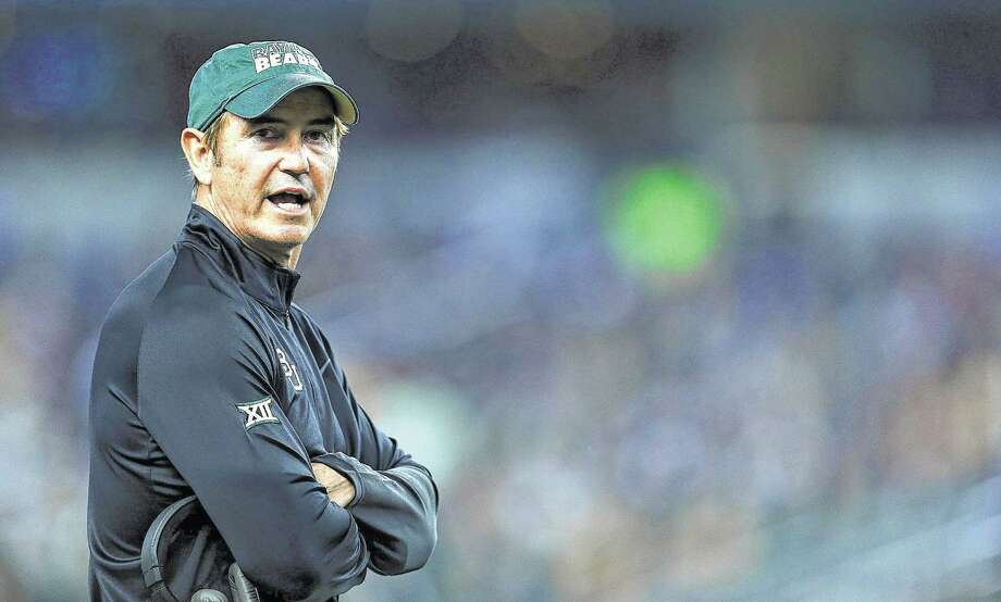 ARLINGTON, TX - JANUARY 01:  Baylor Bears head coach Art Briles looks from the sideline against the  Michigan State Spartans during the first half of the Goodyear Cotton Bowl Classic at AT&T Stadium on January 1, 2015 in Arlington, Texas.  (Photo by Sarah Glenn/Getty Images) Photo: Sarah Crabill, Stringer / 2015 Getty Images