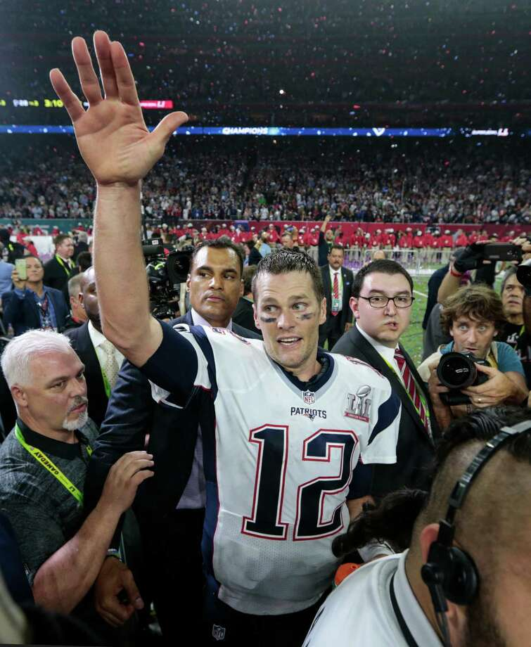 Patriots quarterback Tom Brady might finally be reunited with the jersey he wore during Super Bowl LI after an international search by the FBI. ( Brett Coomer / Houston Chronicle ) Photo: Brett Coomer, Staff / © 2017 Houston Chronicle
