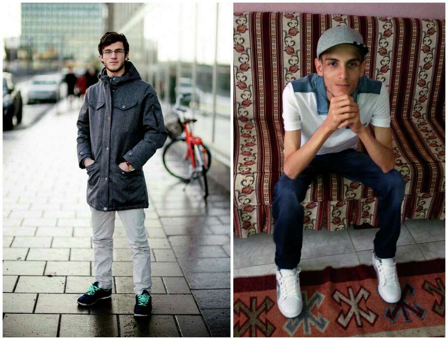 """COMBO - In this combination of two photos of Omar Alshogre, a 21-year Syrian former detainee, now living in Stockholm, Sweden. The left picture is of Alshogre taken on January 2017 in Stockholm, Sweden. The right picture is of Alshogre in July 2015 in Antakya, Turkey, a month after he got out of Syria's Saydnaya prison, near Damascus. While in detention, Alshogre said he heard men escorted to be hanged and had himself been called for """"execution"""" but was spared after a brief trial. Amnesty published a new report on Tuesday revealing that as many as 13,000 men were hanged in secret in a Syrian prison between 2011 and 2015, as part of a government campaign of extrajudicial executions. The group says for five years, once or twice weekly, groups of up to 50 people were taken out of their prison cells and hanged to death. (Handout by Omar Alshogre via AP) Photo: Uncredited, HONS / Handout by Omar Alshogre"""