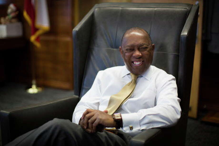 """Mayor Sylvester Turner reinforces his position """"mi casa es su casa,"""" assuring that Houston will remain a welcoming city. Tuesday, Feb. 7, 2017, in Houston. Photo: Marie D. De Jesus, Houston Chronicle / © 2017 Houston Chronicle"""