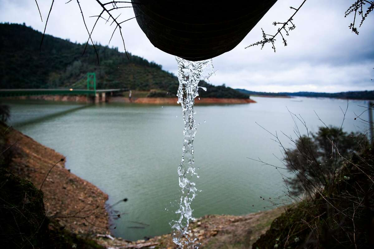 Lake Oroville sits at 80% capacity on February 7, 2017 in Oroville, California.